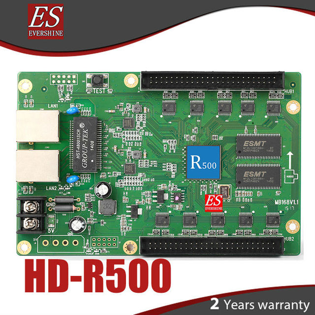 R500 HD-R500 asynchronous full color LED display receiving control  card work with HD-A601/602/603/HD-A30/A30+ series
