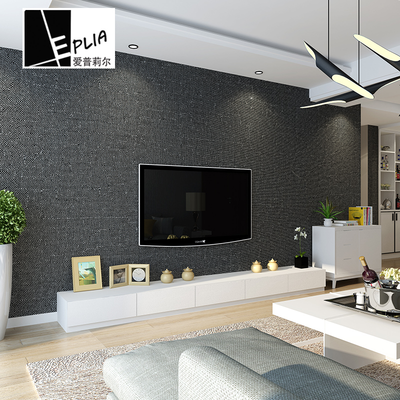 10Mx53cm 3D Wall Paper Self Adhesive Wallpapers For Living Room Waterproof Mildew Proof Non-woven Fabric Classic Pure Color