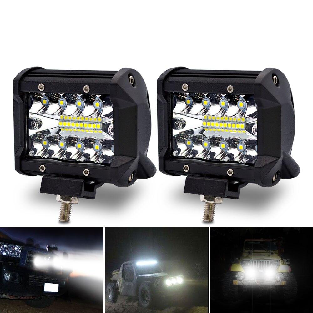 Safego LED Bar 4 pulgadas 60 W LED luz de trabajo Bar Motorcycle barra para Offroad coche 4x4 led barra de luz para camiones barco SUV ATV 12 V 24 V
