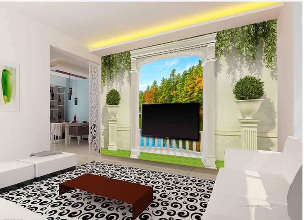 d wallpaper decoracin del hogar jardn arcos bosques lakeview terrace d tv teln de fondo
