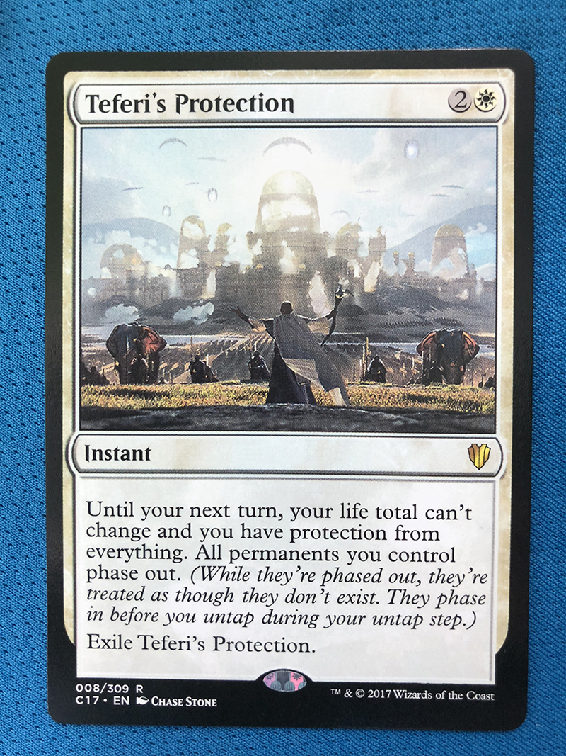 Teferi's Protection C17 Hologram Magician ProxyKing 8.0 VIP The Proxy Cards To Gathering Every Single Mg Card.