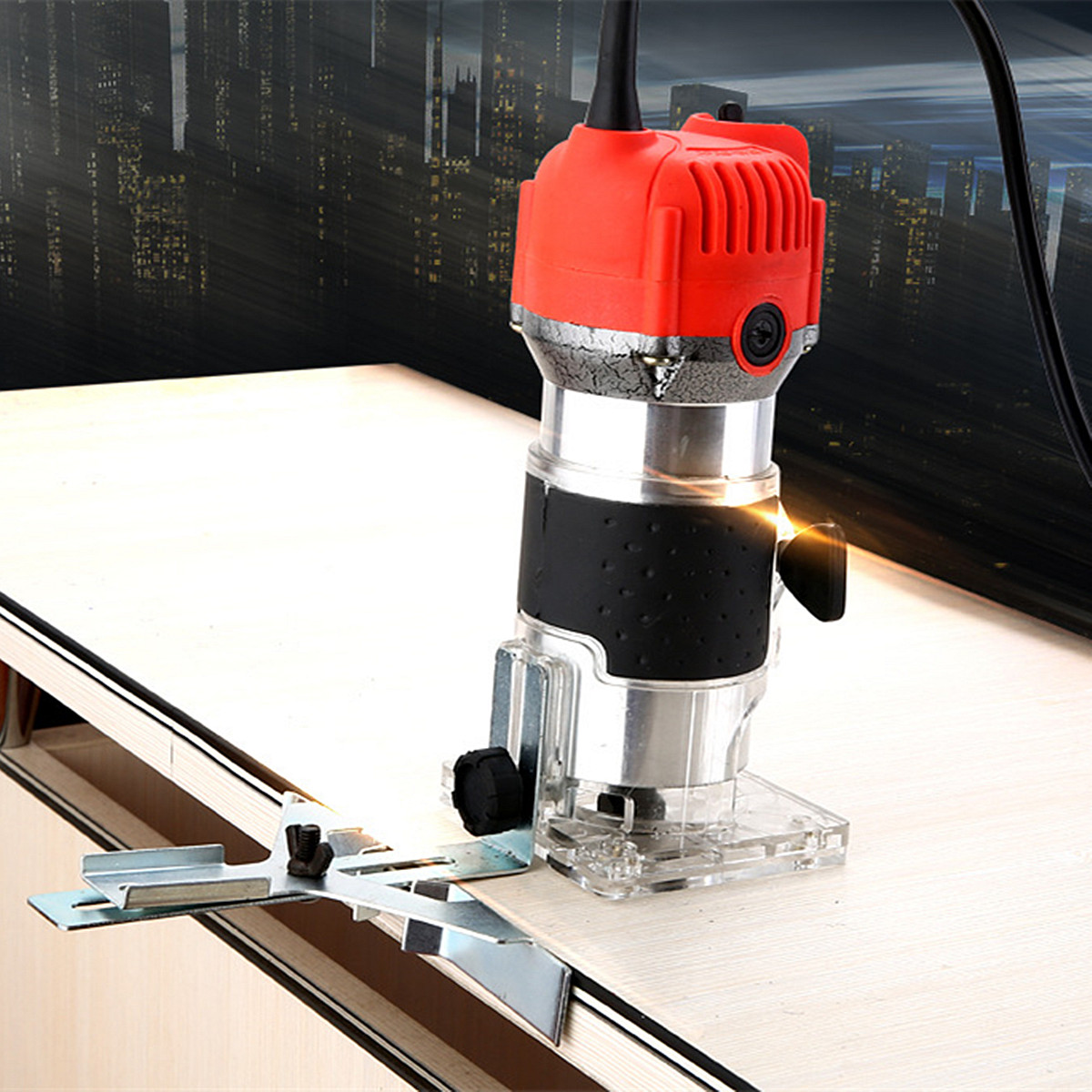 30000r/min Corded Electric Hand Trimmer Wood Laminator Router Joiners Tools 110V 750W 1/4 60HZ External Carbon Brush Lift Knob30000r/min Corded Electric Hand Trimmer Wood Laminator Router Joiners Tools 110V 750W 1/4 60HZ External Carbon Brush Lift Knob