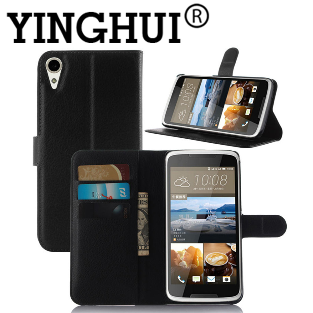For HTC Desire 828 dual sim Luxury Book Style Litchi Leather Wallet Case For HTC desire 830 Flip Cover Stand Card Slots
