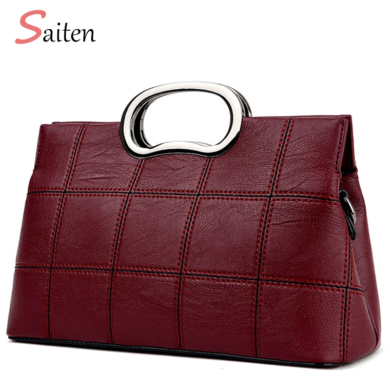 Saiten new Design Ladies Totes Bag Fashion Hardware Handle Women - Handbags