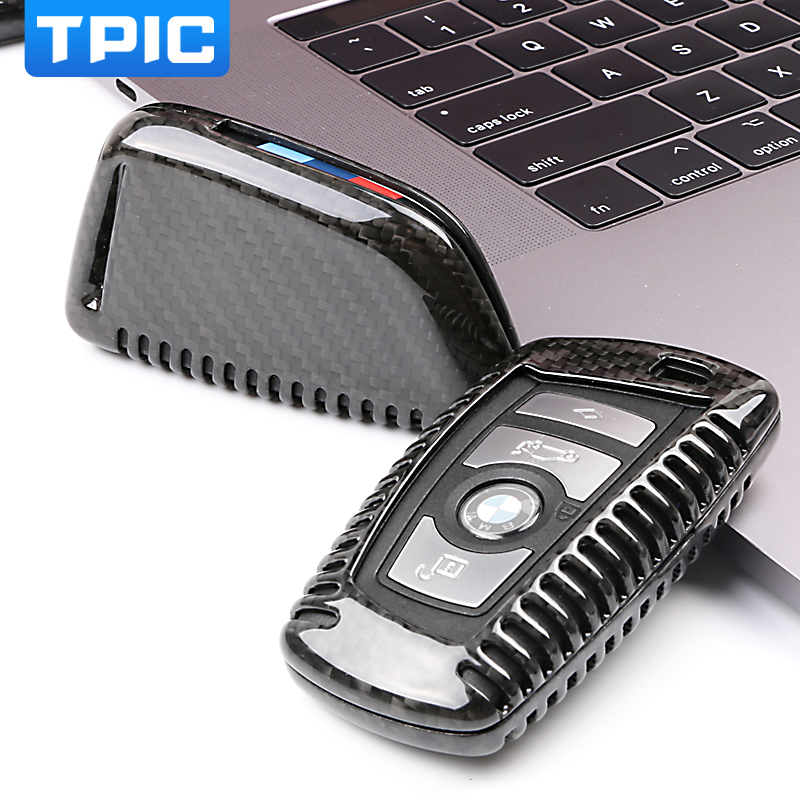 TPIC 100% Carbon Fiber Car Key Case For BMW 1 2 3 4 5 6 7 Series X1 X3 X4 X5 X6 F30 F34 F10 F07 F20 G30 F15 F16 Car Key Cover-in Key Case for Car from Automobiles & Motorcycles    1