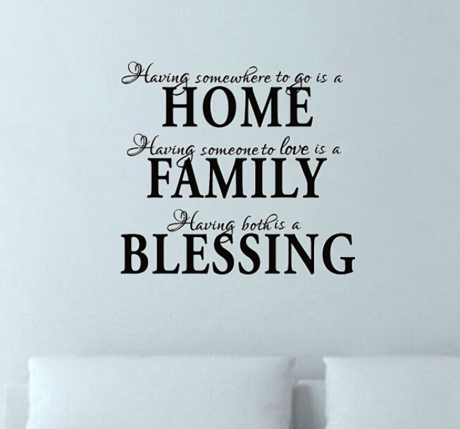 free shipping home family blessing religious bible vinyl removable