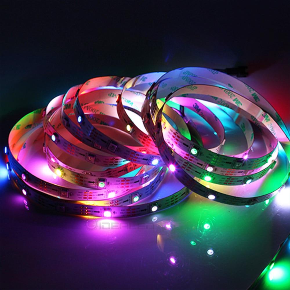 ᗜ LjഃInteligente a todo Color LED Pixel tira IC WS2812B 30/60/144 ...
