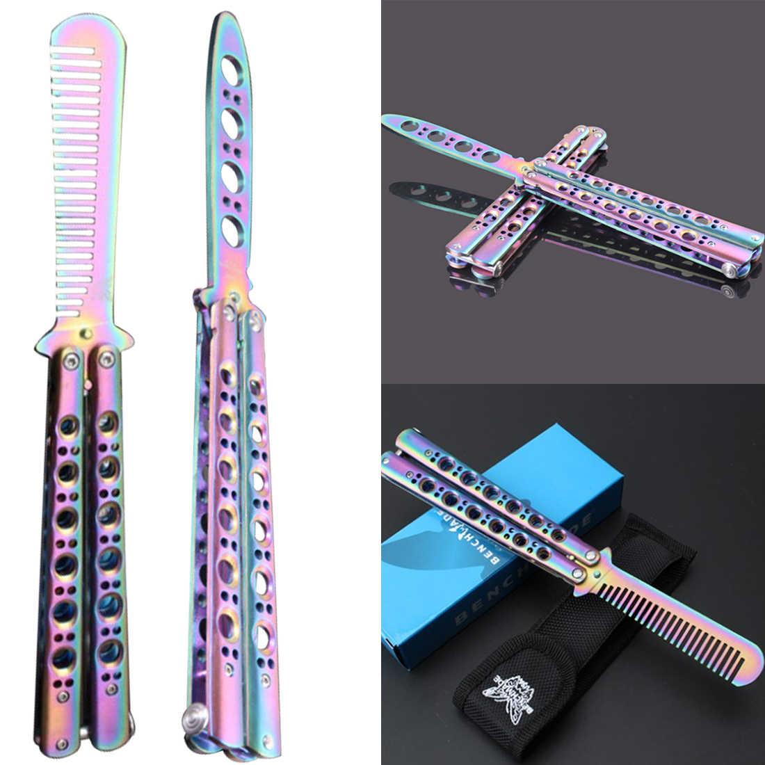 Тренировочный титановый нож из нержавеющей стали складной тренировочный не практичный балисонский нож-бабочка красочный практичный карамбит