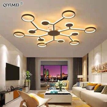 2019 moderne Led-deckenleuchten Für Wohnzimmer Schlafzimmer 95-265V Innen beleuchtung Decke Lampe Leuchte fernbedienung dimmen