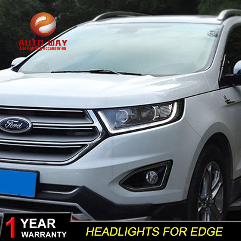 Styling mobil Kepala Lampu kasus untuk Ford Edge 2015-2018 Lampu LED - Lampu mobil - Foto 3