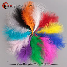 Factory 100pcs 4-6 Inches 10-15 cm Chicken Plumes Turkey Marabou Feathers for Carnival Halloween Christmas DIY craft