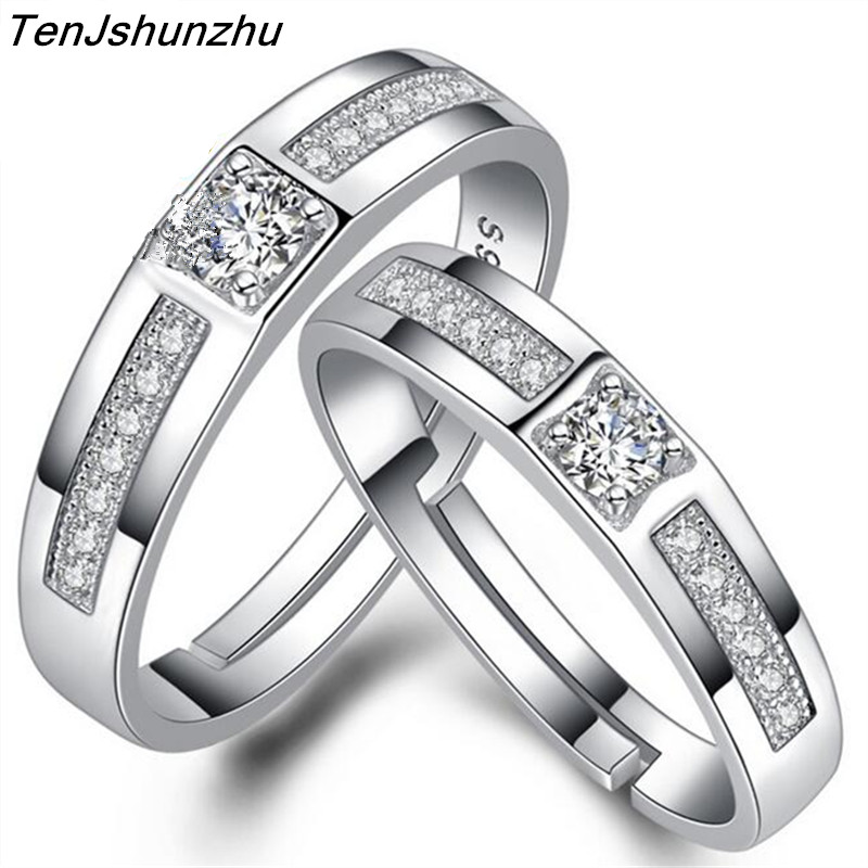 new designer forever love wedding rings pair couple rings men jewelry silver for women zircon bague