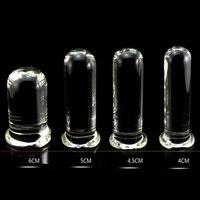 Crylinder Verre Gode Big Huge Grande Verrerie Cristal de Pénis Anal Plug Femmes Sex Toys pour les Femmes G spot Stimulateur Plaisir baguette
