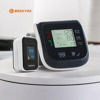 Finger Pulse Oximeter saturation OLED oximetro pulsossimetro Wrist Blood Pressure Monitor tensiometro Tonometer Sphygmomanometer
