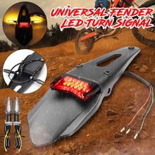 Universal For Fender Motorcycle Rear Light LED Break Tail/Turn Signal Light For Fender Trial Bike Motorbike Taillights Stop Lamp