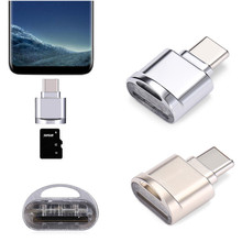 Alloy USB 3.1 Type C Micro SD TF Card Reader OTG Adapter for Samsung Galaxy S8 H10T2