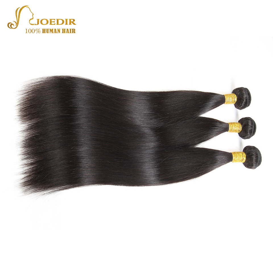Joedir Hair Products Indian Straight Hair 8-26 Inch 100% Human Hair Extensions 3 Bundle Deals Non Remy Hair Weave Bundles Deals