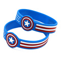 50PCS/Lot Wrist Watch Shaped Captain America Iron Man and Superman Silicone Bracelet