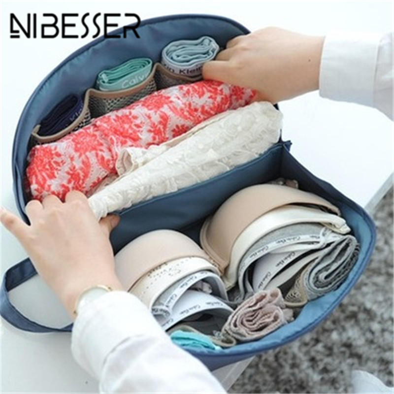 NIBESSER Multifunction Travel Bags Cartoon Makeup Organizer Portable Bags Travel Accessories for Underwear Storage Beauty Pouch
