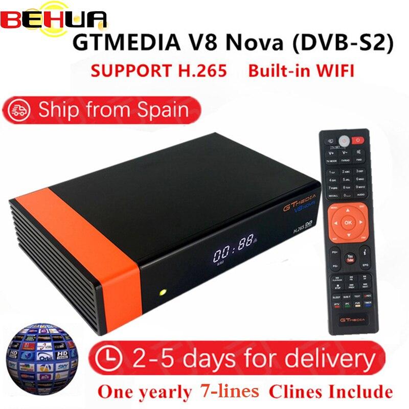 위성 수신기 freesat v8 nova v9 슈퍼 DVB-S2 지원 h.265 유럽 cline 풀 hd 1080 p 디코더 wifi 스페인 수신기 내장