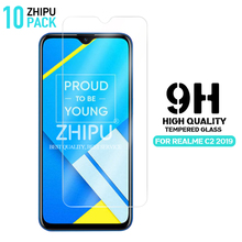 10 Pcs Tempered Glass For OPPO REALME C2 2019 Glass Screen Protector 2.5D 9H Tempered Glass For REALME C2 2019 Protective Film 9h anti burst protective glass for oppo realme x 3 2 1 pro tempered screen protector glass for oppo realme u1 c1 c2 3i x glass