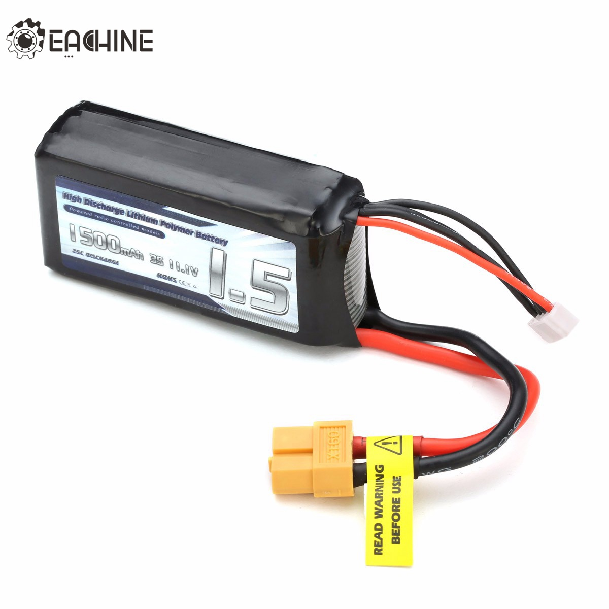 Eachine Wizard X220 Racer 250 Drone Spare Part 1500mAh 3S 11.1V XT60 Plug Lipo Battery For RC Racing FPV Quadcopter Accessories high quality realacc orange85 fpv racer spare part 3s 11 1v 450mah lipo battery for rc model