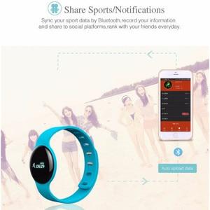 Image 3 - Pulsera inteligente JQAIQ a la moda para Fitness banda de seguimiento de actividad podómetro Bluetooth Oled pulsera inteligente para teléfono inteligente Android Ios