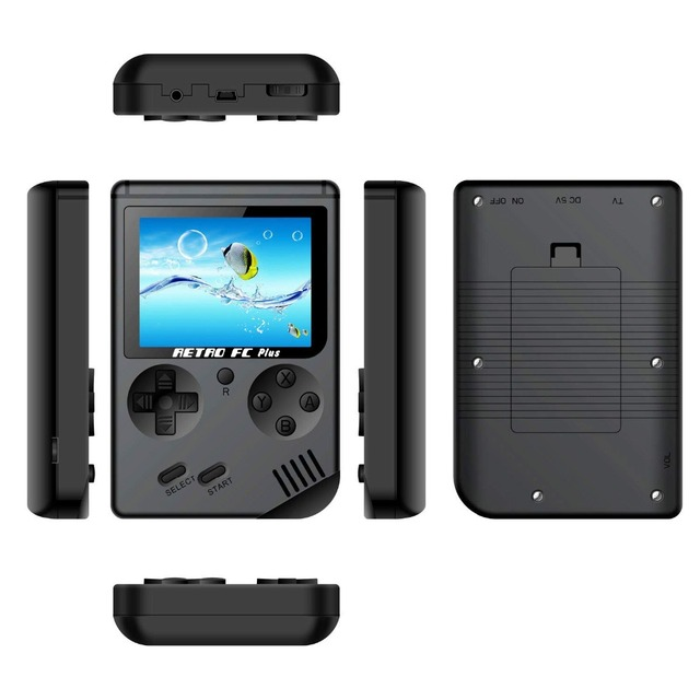 8 Bit Retro Handheld Game Player with 168 Classic Games