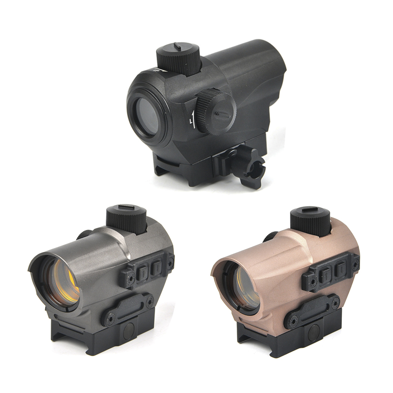 1.5 MOA Red Dot Sight 10 Brightness Settings Tactical with Riser Mount fit 20MM QD Picatinny Rail for Hunting Scopes tactical russian ak47 74 47 zenit b 13 20mm cnc aluminium m47 qd side rail red dot scope mount base picatinny cerakote hunting