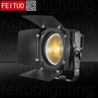 Pro 4pcs/lot Profile Spot LED Theatre Light 200w COB DMX Zoom Fresnel Lighting Touch Screen Single Warm Cool White TV Spotlight