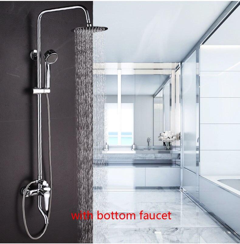 Dofaso набор для душа для ванной из нержавеющей стали, водоструйный кран для ванной комнаты, большой водоструйный верхний спрей и ABS ручной душ