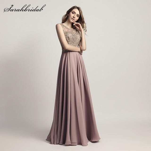 01d737d5a1d5d Robe De Soiree New Styles Formal Elegant Long Evening Dresses A Line  Crystal Appliques Party Gowns