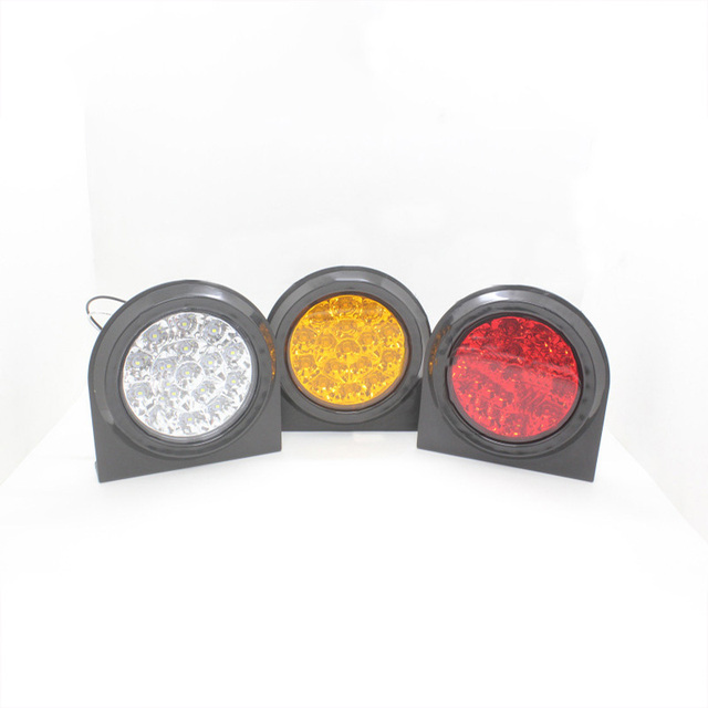 2 Pcs 16 LED Car Rear Tail Lights Warning Lamp for 24V Truck Trailer Lorry Red Yellow White
