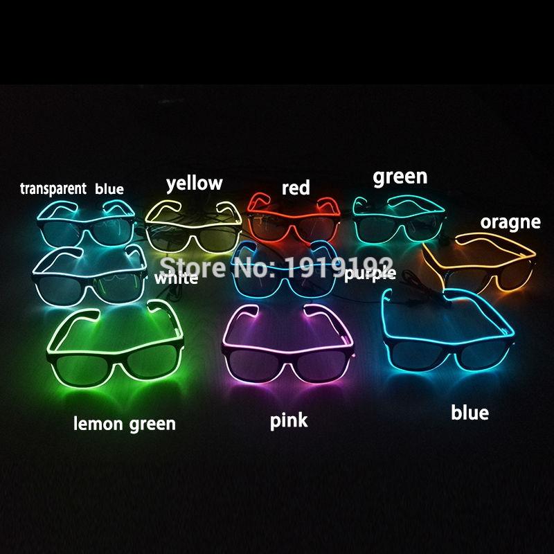 El Wire Glow traadita päikeseprillidGedes Led DJ Bright Light Safety - Pühad ja peod - Foto 5