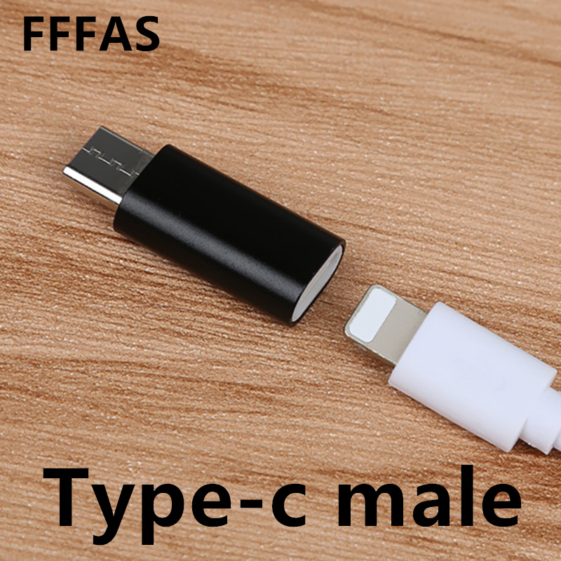 Aliexpress Com Buy Fffas Type C Male To 8 Pin Female Usb Cable Converter Charger Type C