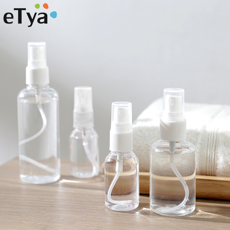 ETya New Women Beauty Mini Travel Accessories PVC Transparent Makeup Portable Container Bottle Travel Organizer Waterproof Bag