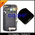 Бесплатная доставка 100% тестирование Для Samsung Galaxy Note 2 N7100 N7105 Оригинальный ЖК Планшета Ассамблеи с рамкой-Белый/Серый