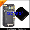 Free shipping 100% tested For Samsung Galaxy Note 2 N7100 N7105 Original LCD Digitizer Assembly with frame  -White/Grey