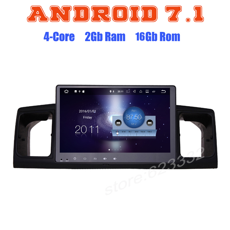 Android 7.1 Quad core car radio gps player for toyota Corolla E120 2003-2006 with 2G RAM wifi 4G USB radio RDS audio stereo