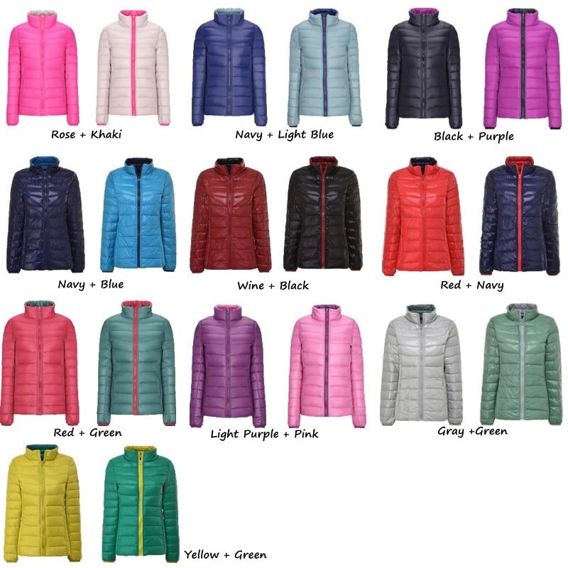 NewBang Brand Plus 4XL 5XL 6XL Women 39 s Down Coat Ultra Light Down Jacket Women Double Side Reversible Jackets Lightweight Coat in Down Coats from Women 39 s Clothing
