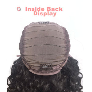 Image 3 - Ali FumiQueen Lace Front Wig With Baby Hair 180%/250% Density Peruvian Straight Non Remy Hair 4x4 Lace Closure wig Free Shipping
