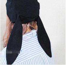 Grey Animal Winter Warm Chic Soft Fluff Rabbit Ear eye Hat Long Hooded with bow цена