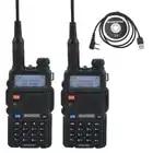 2pcs DM 5R baofeng 2nd Generation DMR Digital Radio VHF/UHF Dual Band DMR Tier I&II FM Walkie Talkie +1pcs USB programming cable - 1