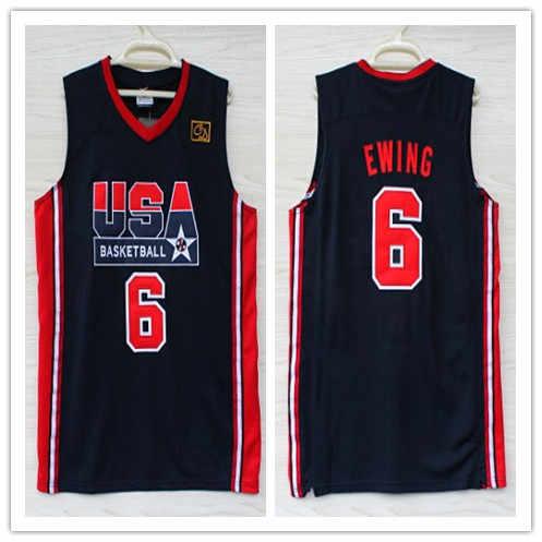 5 David Robinson 6 Patrick Ewing 8 Scottie Pippen 1992 dream team usa basketball  jersey Stitched b86fbe2d6