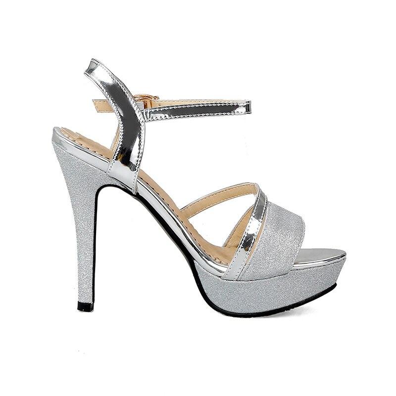 9d92c3f2 Moda Verano Tacones 34 Oro Doratasia Grandes Mujeres Tobillo Mujer 43  Zapatos plata Fiesta Tallas Sandalias Plata Altos Oro 2018 correa HYe9DE2IW