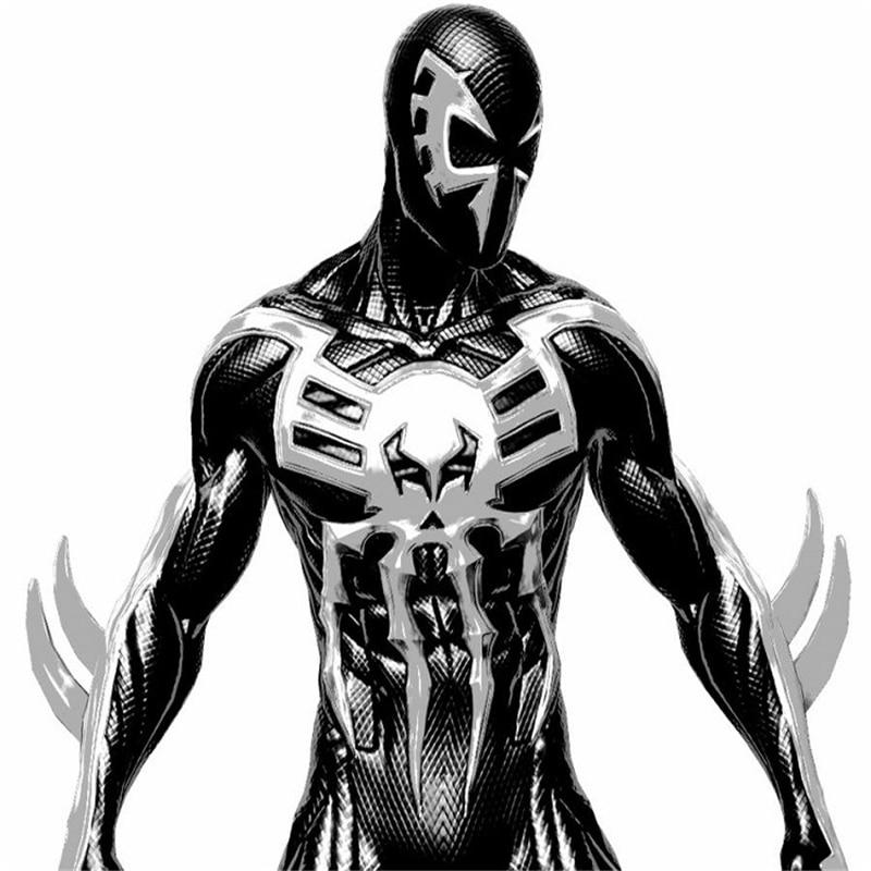 Spider Man 2099 Miguel O'Hara cosplay Super hero Spiderman Costumes Fullbody Zentai Suit Adult man Jumpsuit Long Sleeve Rompers