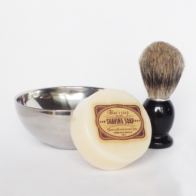 3pc/set Men Beard Shaving brush with Shave Soap Bowl