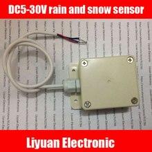 Sensor de chuva e neve DC5 30V, interruptores capacitivos de proximidade/saída npn chuva e módulo de indução para neve