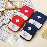 Mini First Aid Kit Leere Tasche Hause Notfall Überleben Pouch Tragbare Drogen Sicherheit Tasche Kleine Medizin Divider Lagerung Veranstalter