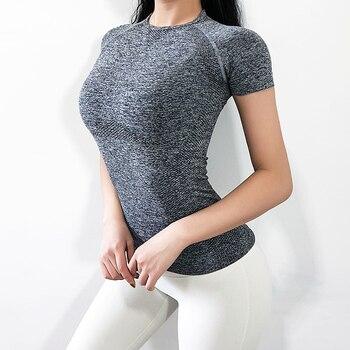 Women's Sports Wear For Women Gym Yoga Top T-shirt Female Workout Tops Sport Shirt Fitness Seamless Jersey Woman Workout Tops 6